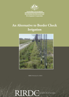 An Alternative to Border Check Irrigation Comparison of border check to drop tube centre pivot irrigation for lucerne irrigated
