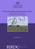 The Invisible Reality of Groundwater Salinity Monitoring salt accessions in irrigated lucerne seed production
